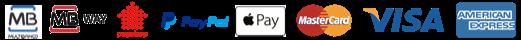 Métodos de pagamento disponíveis na loja barbudos.pt - multibanco, mbway, payshop, paypal, apple pay, master card, visa e american express