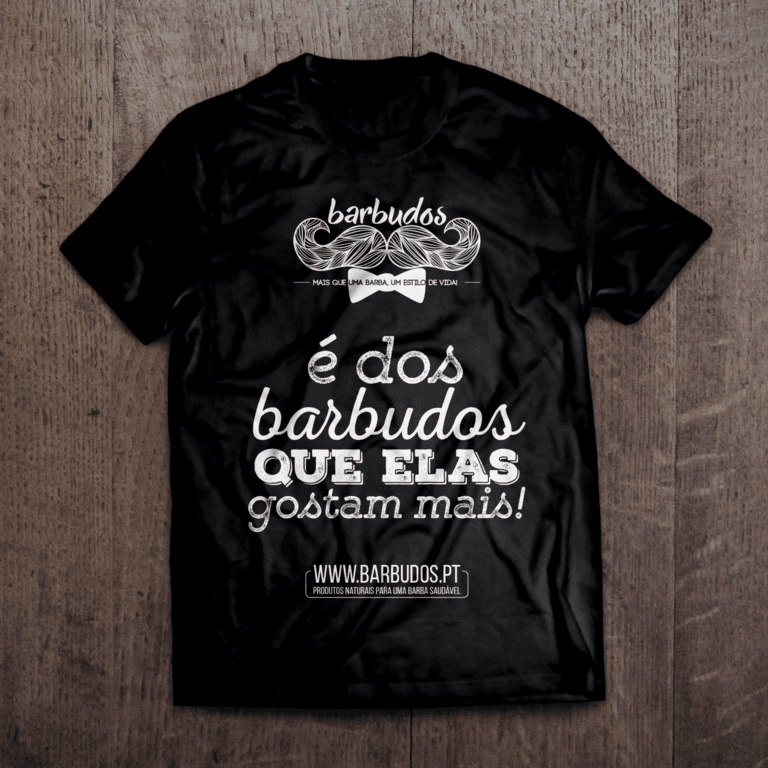 T-Shirt Barbudos - e dos barbudos que elas gostam mais - preto