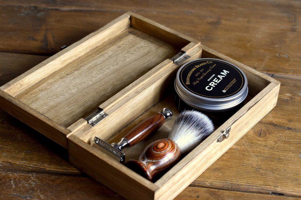 Conjunto de Barbear Tradicional com lamina de barbear barbudos.pt