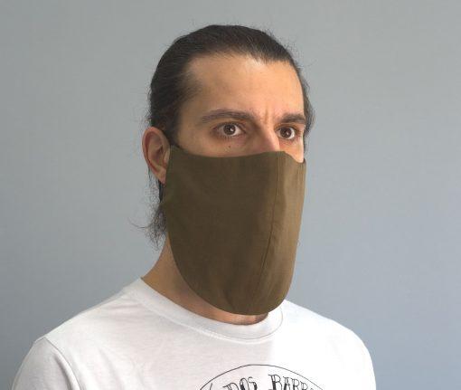 mascara de pano reutilizavel lavaval virus barbudo castanho