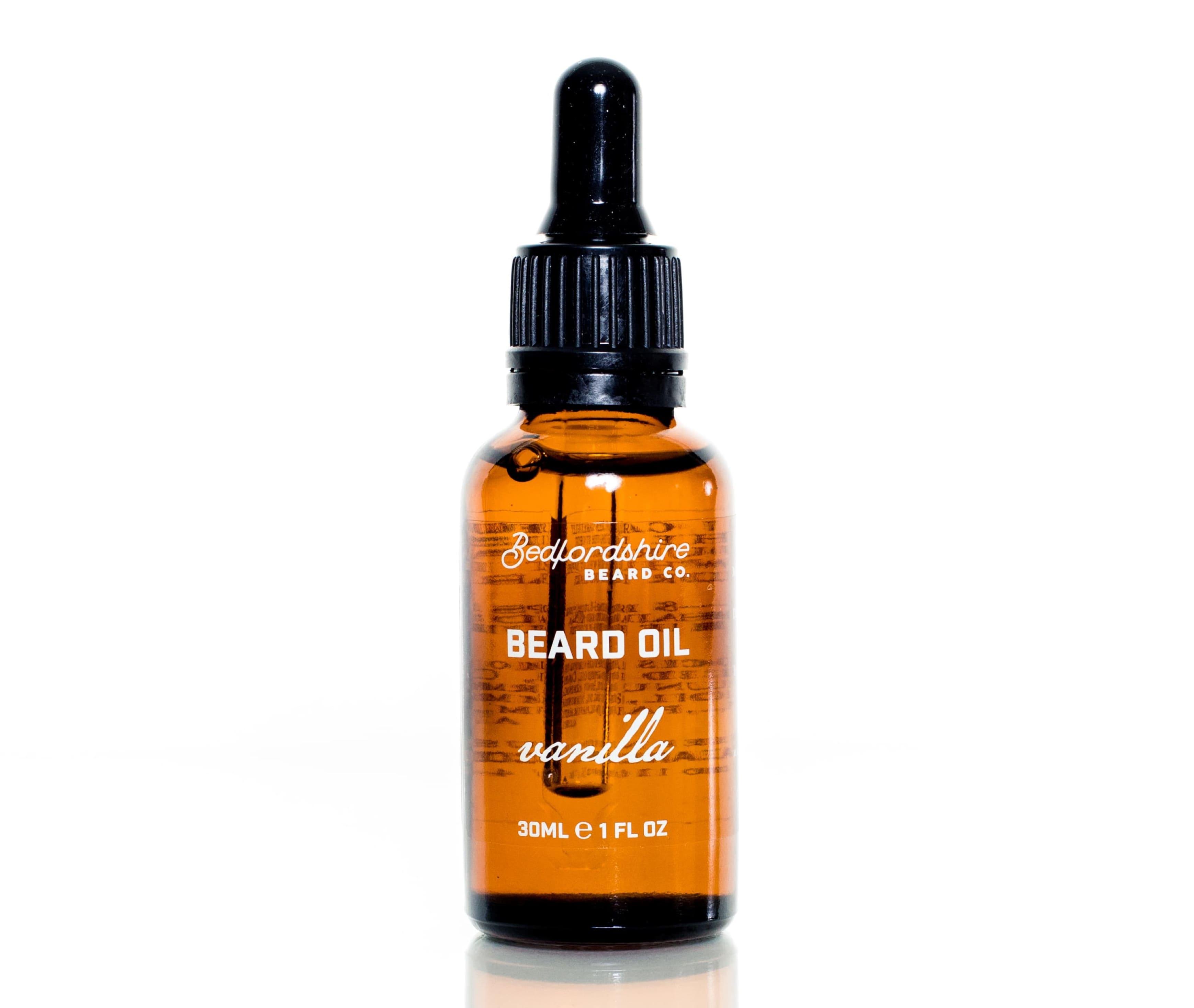 Óleo para barba baunilha bedfordshire beard co barbudos