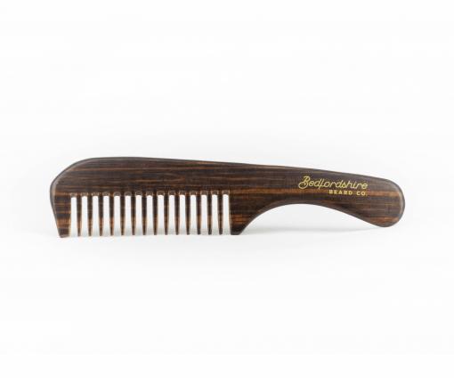 pente de mão madeira barba e bigode barbudo