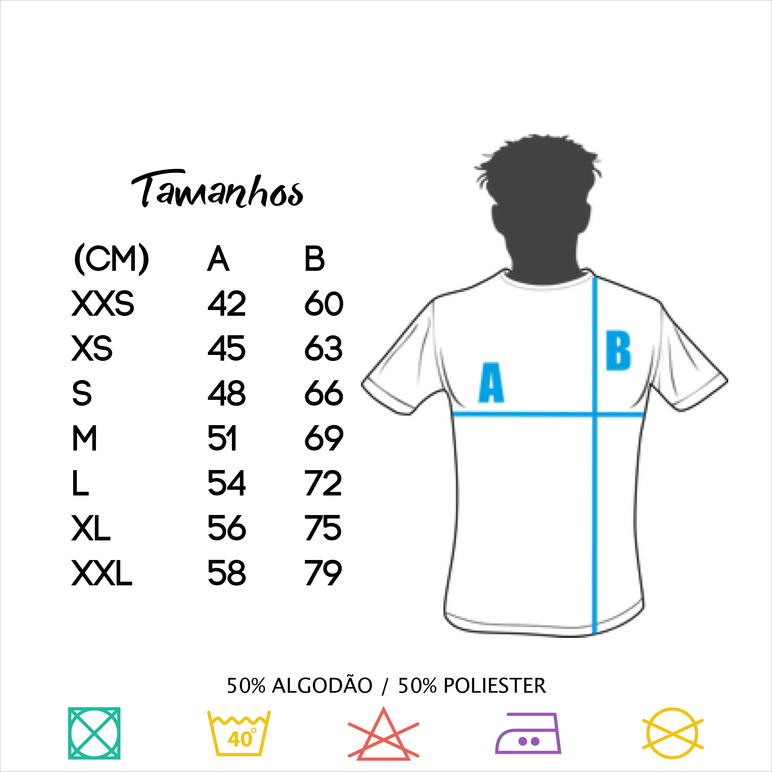Tamanhos t-shirt Barbudos.pt
